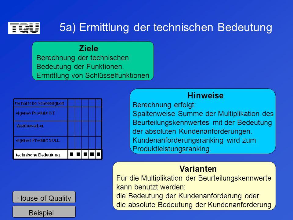5a) Ermittlung der technischen Bedeutung