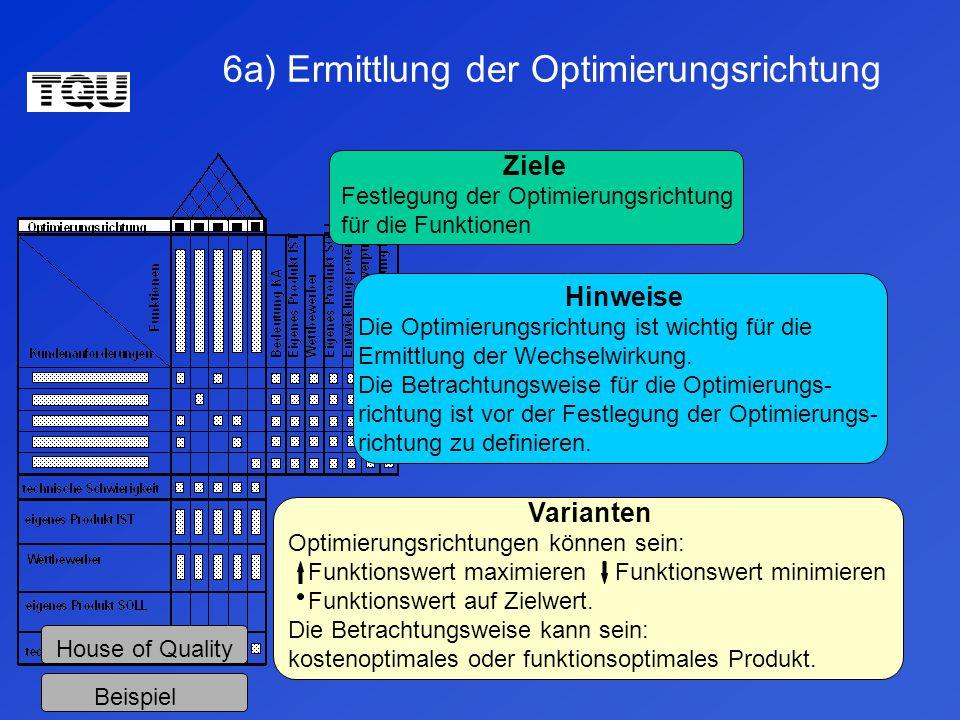 6a) Ermittlung der Optimierungsrichtung