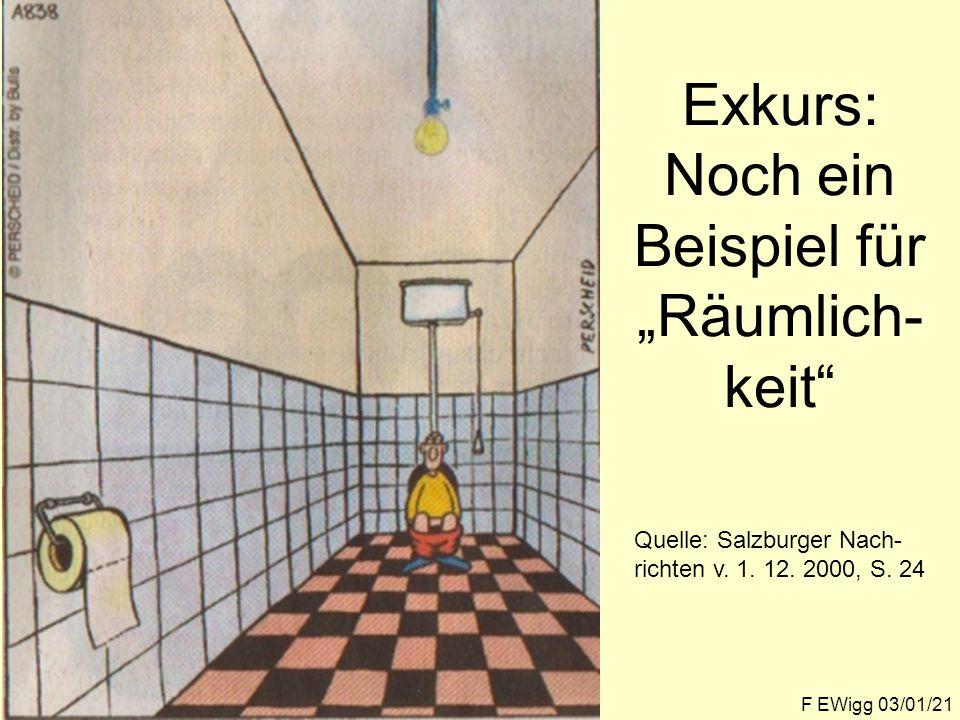 """Exkurs: Noch ein Beispiel für """"Räumlich-keit"""