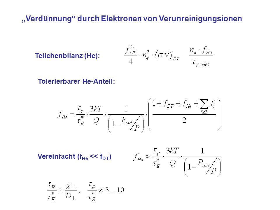"""""""Verdünnung durch Elektronen von Verunreinigungsionen"""