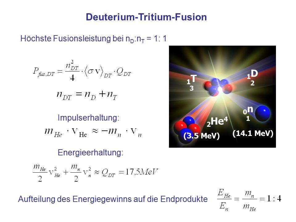 Deuterium-Tritium-Fusion