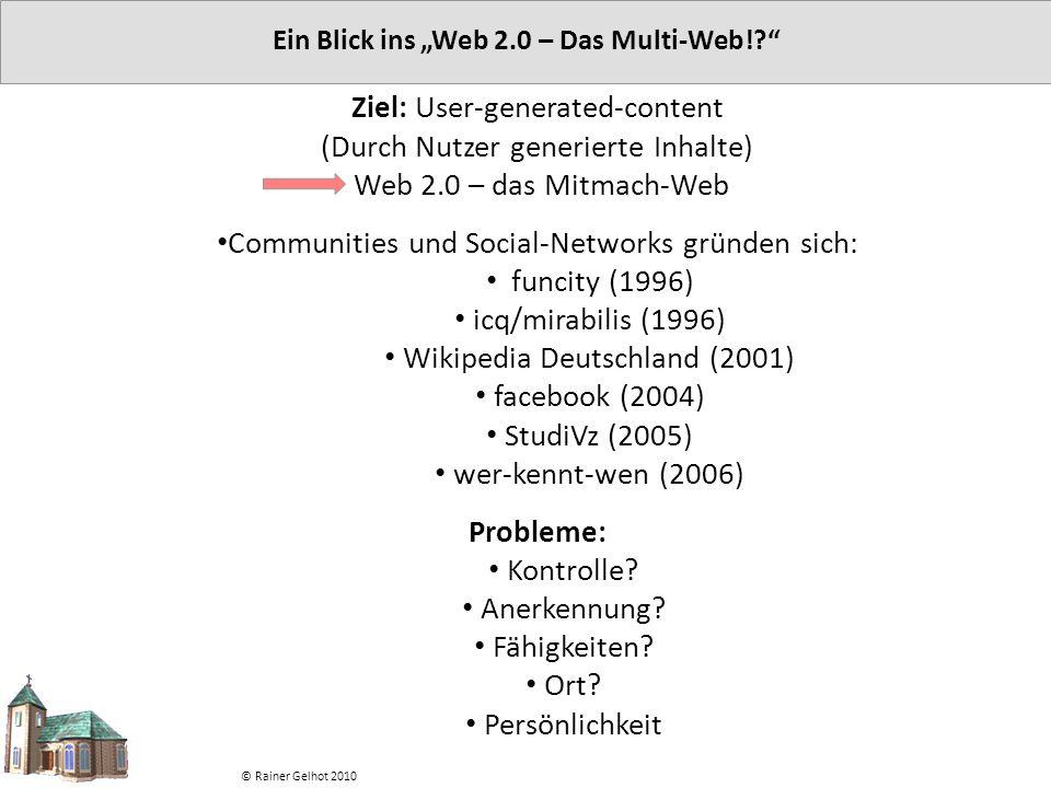 "Ein Blick ins ""Web 2.0 – Das Multi-Web!"