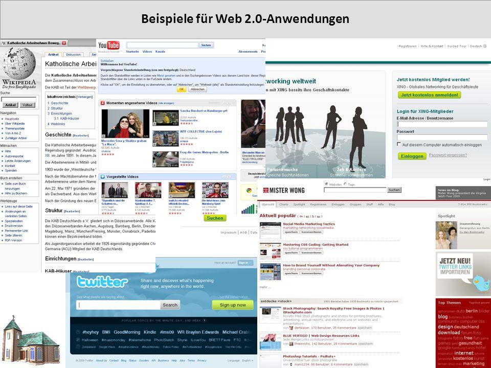Beispiele für Web 2.0-Anwendungen