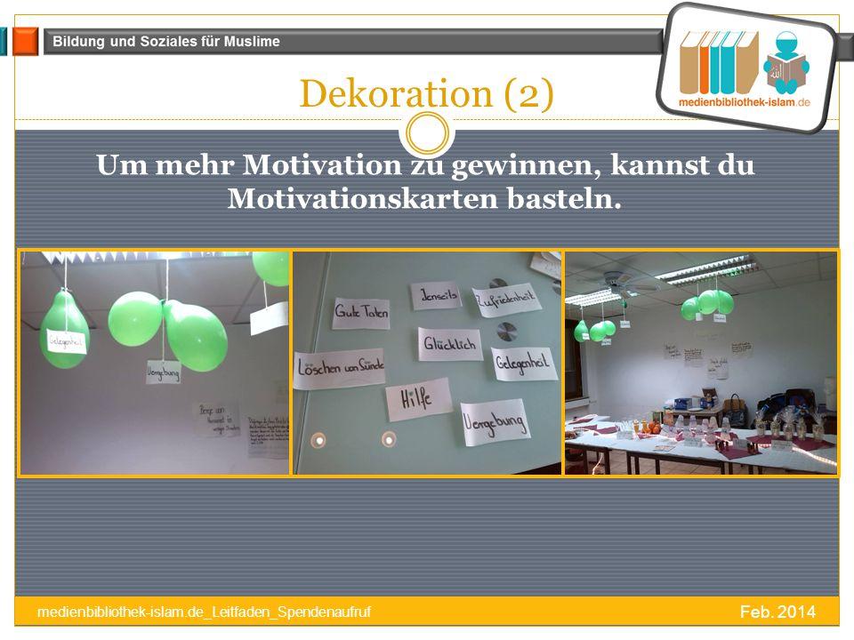 Um mehr Motivation zu gewinnen, kannst du Motivationskarten basteln.
