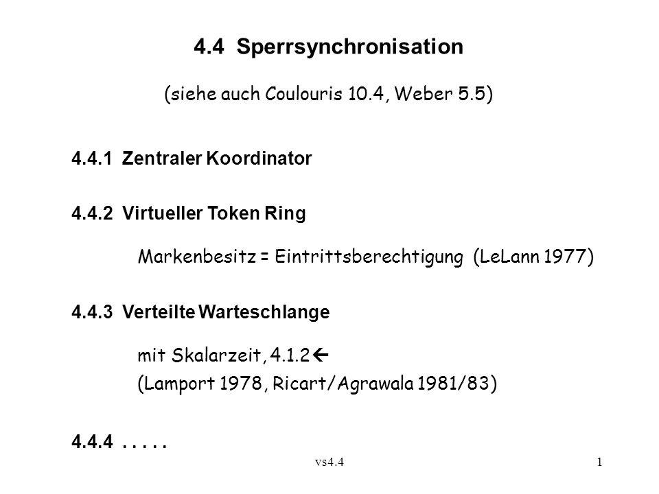 4.4 Sperrsynchronisation
