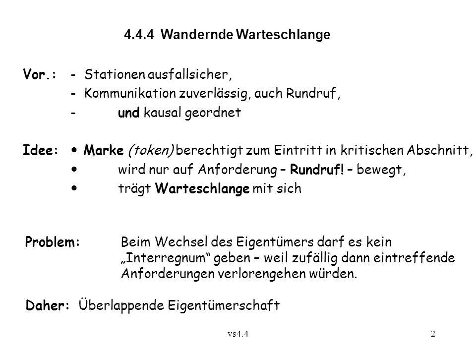 4.4.4 Wandernde Warteschlange