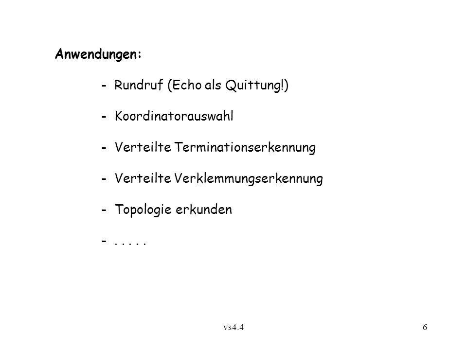 - Rundruf (Echo als Quittung!) - Koordinatorauswahl