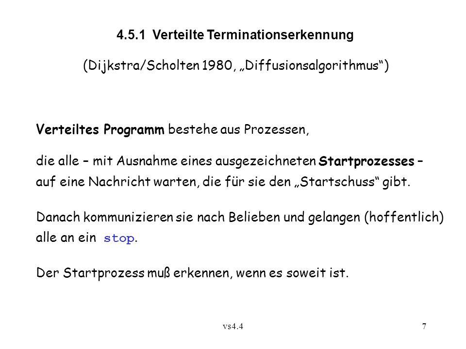 4.5.1 Verteilte Terminationserkennung