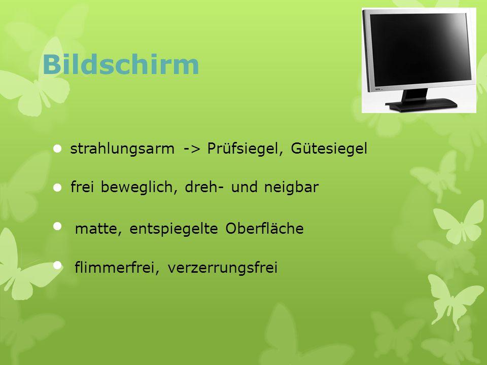 Bildschirm strahlungsarm -> Prüfsiegel, Gütesiegel