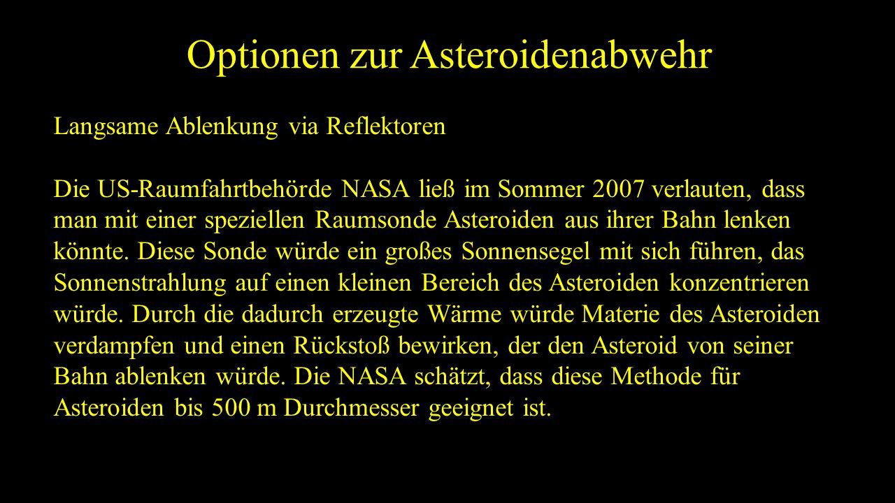 Optionen zur Asteroidenabwehr