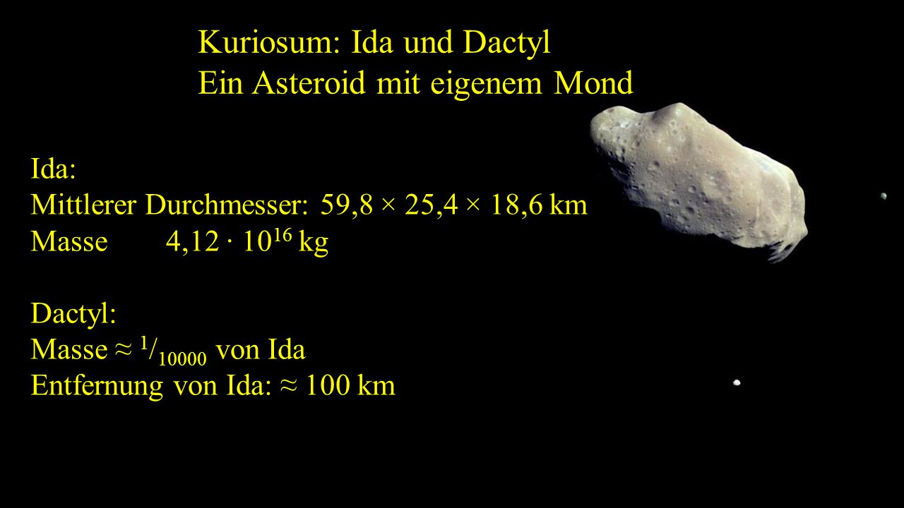 Kuriosum: Ida und Dactyl Ein Asteroid mit eigenem Mond
