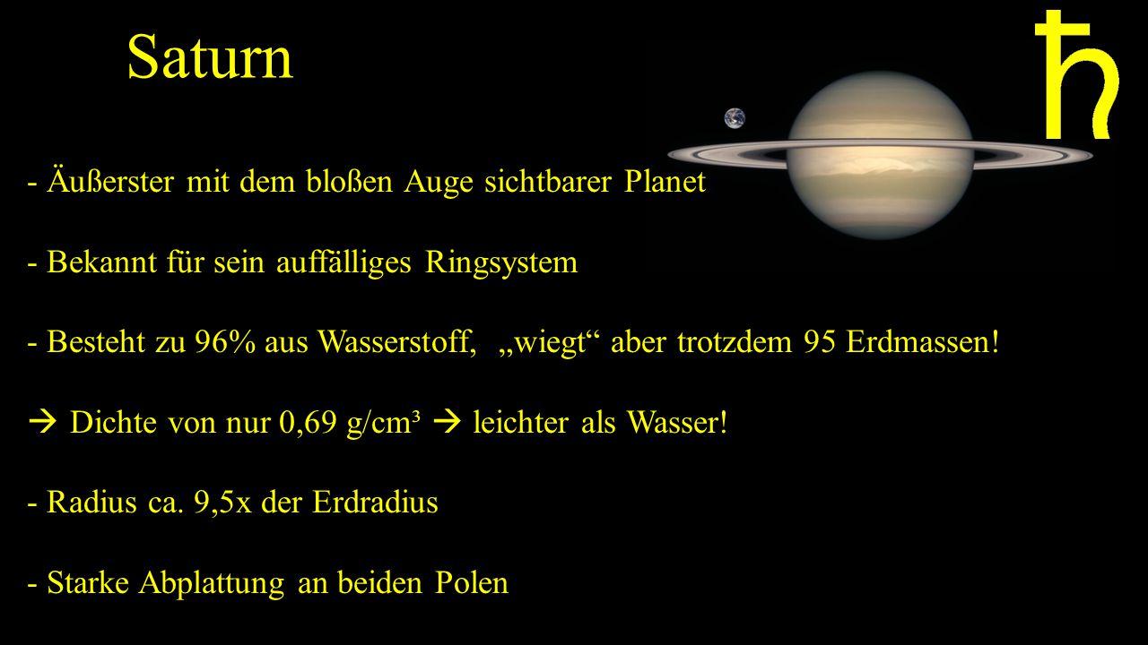 Saturn - Äußerster mit dem bloßen Auge sichtbarer Planet