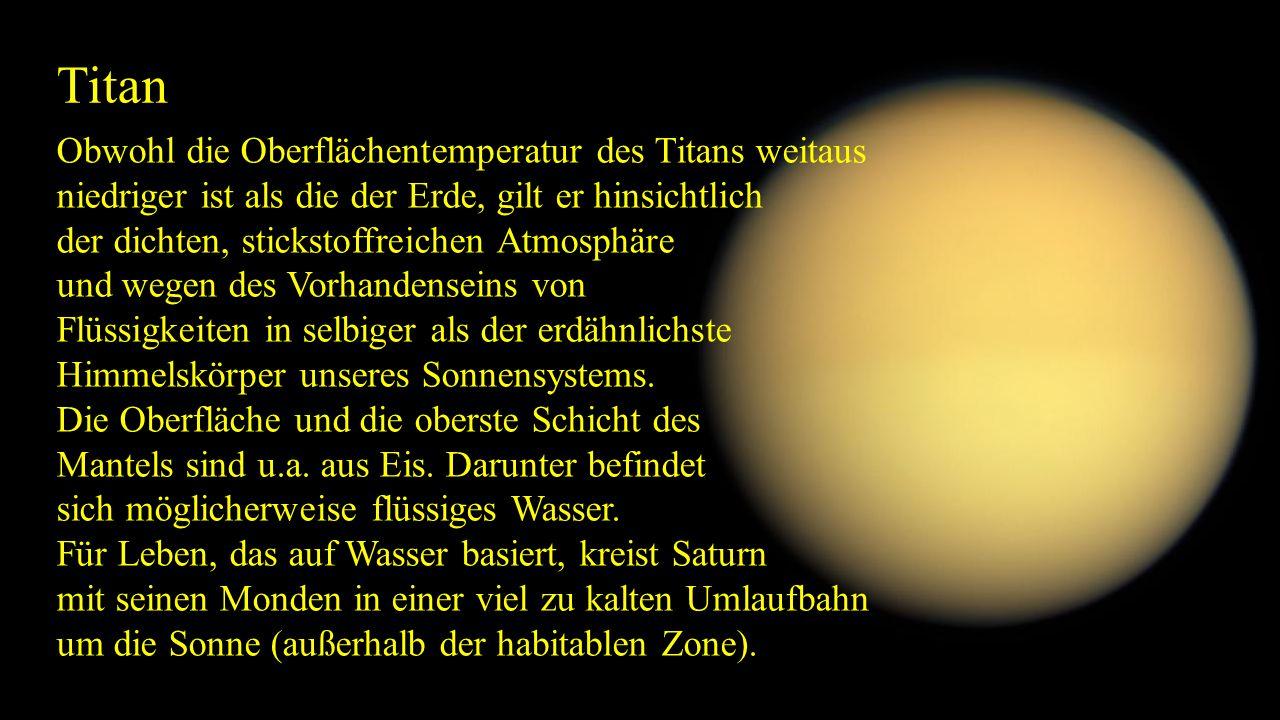 Titan Obwohl die Oberflächentemperatur des Titans weitaus