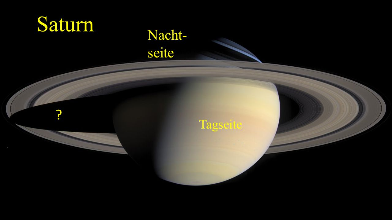 Saturn Nacht- seite Tagseite