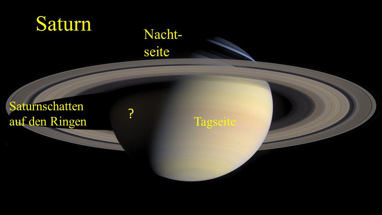Saturn Nacht- seite Saturnschatten auf den Ringen Tagseite