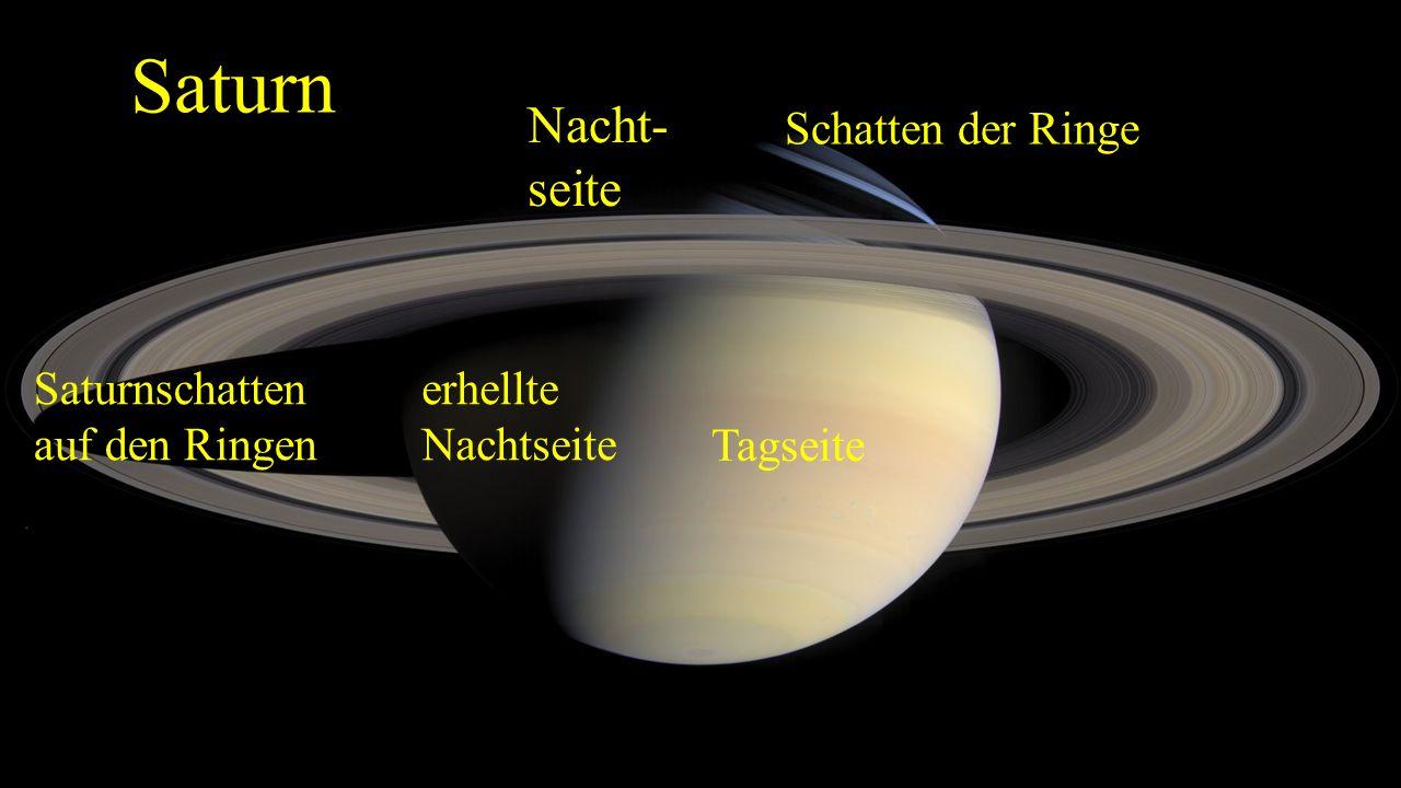 Saturn Nacht- seite Schatten der Ringe Saturnschatten auf den Ringen