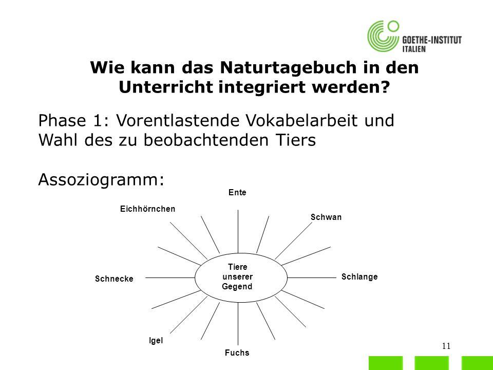 Wie kann das Naturtagebuch in den Unterricht integriert werden