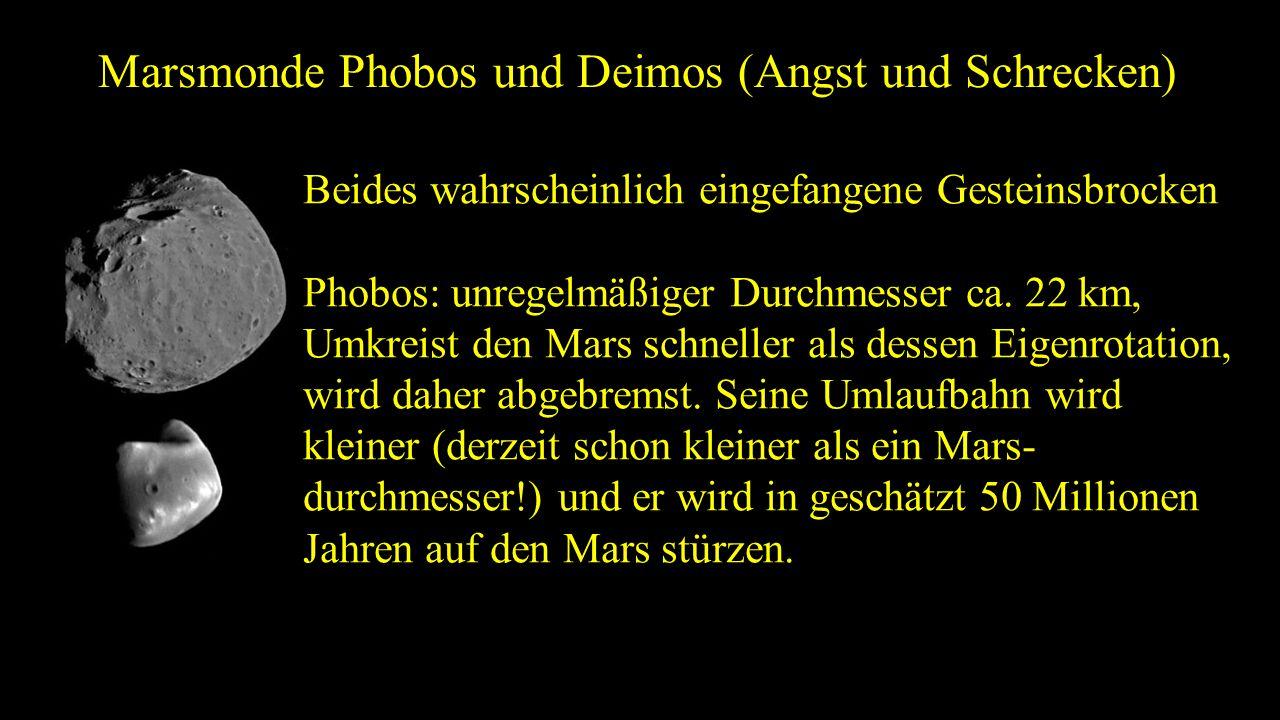 Marsmonde Phobos und Deimos (Angst und Schrecken)