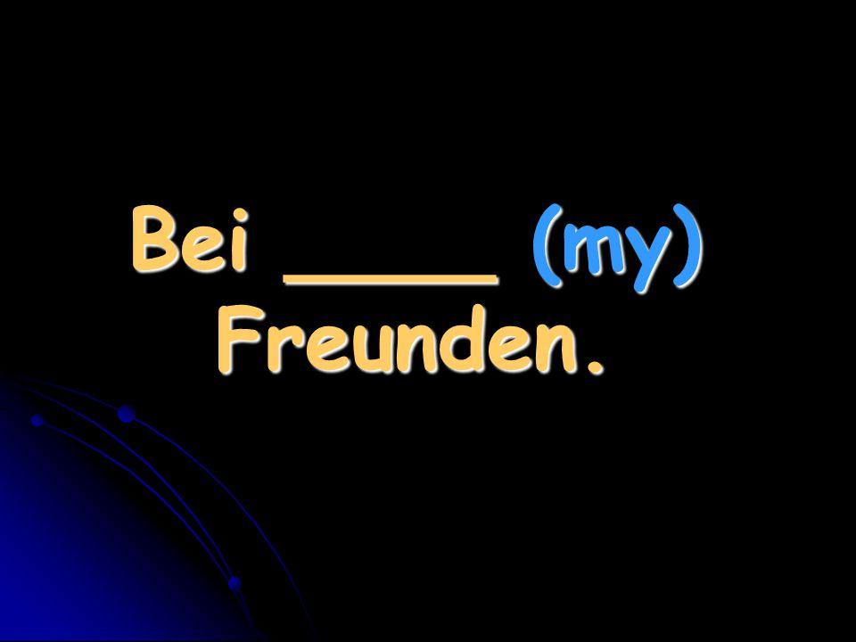 Bei ____ (my) Freunden.