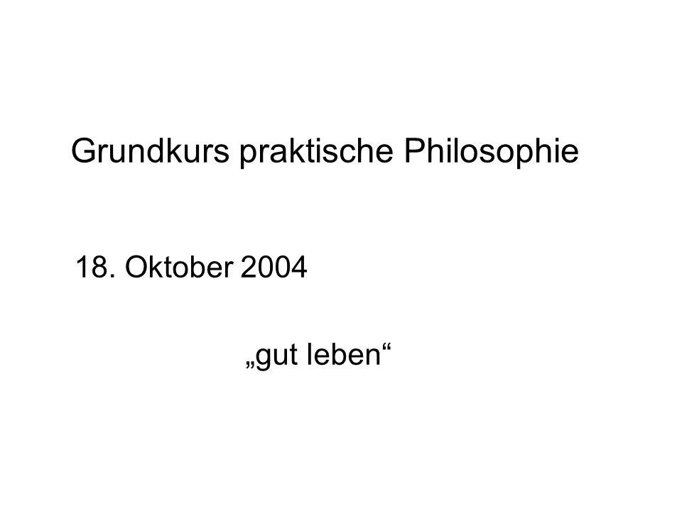 Grundkurs praktische Philosophie