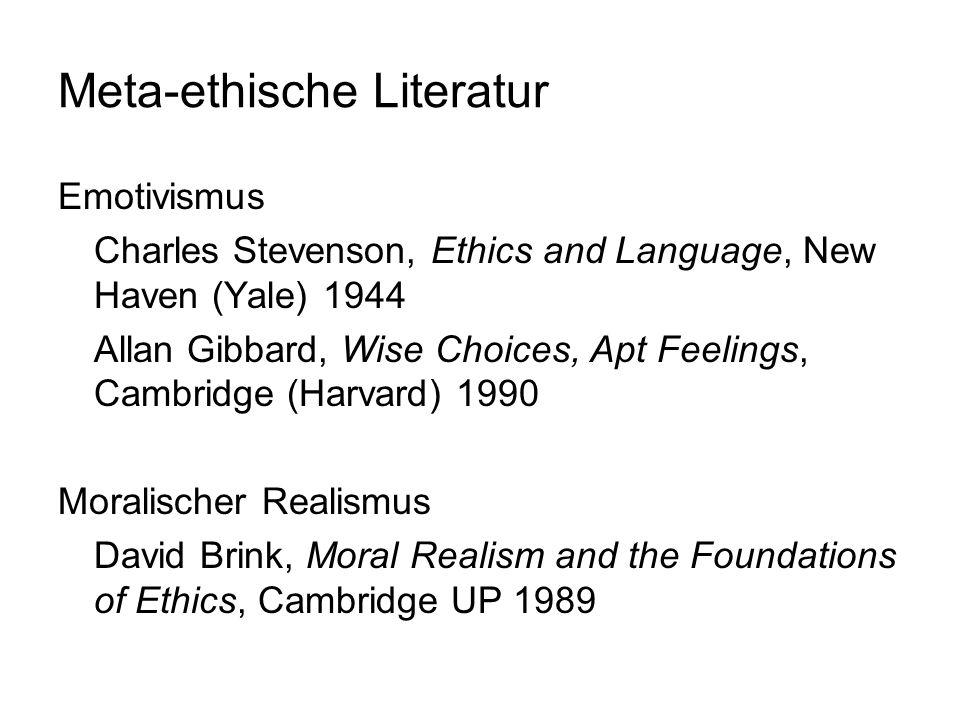Meta-ethische Literatur