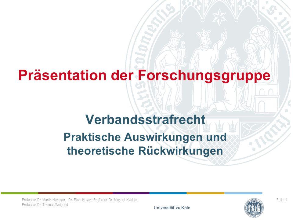 Präsentation der Forschungsgruppe