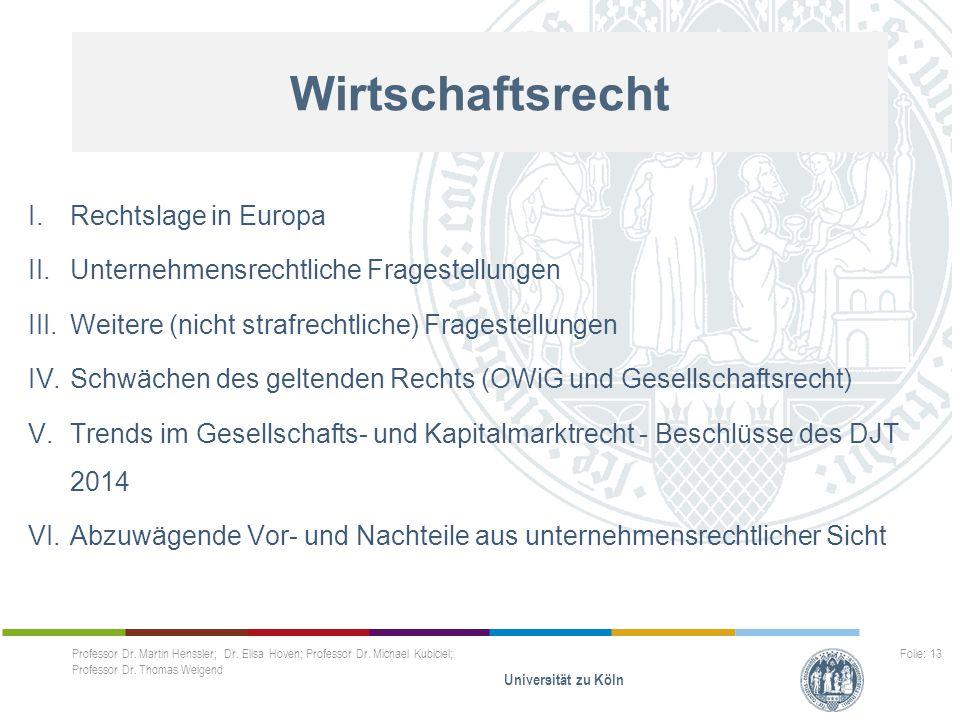 Wirtschaftsrecht Rechtslage in Europa