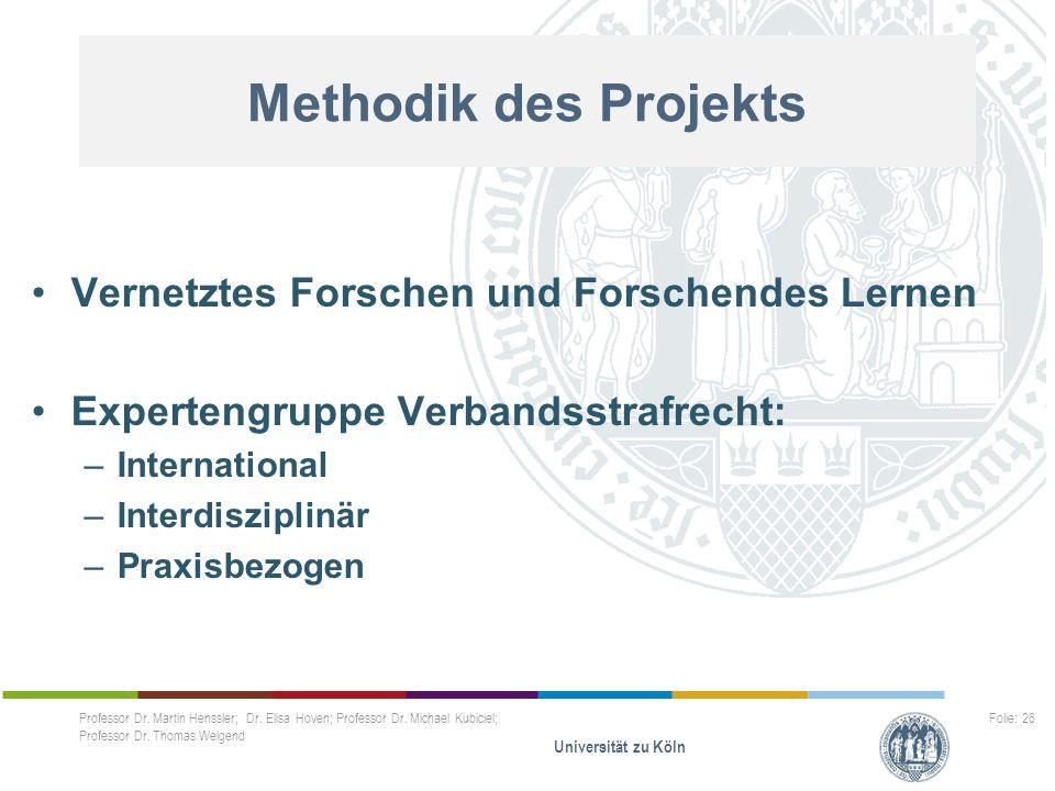 Methodik des Projekts Vernetztes Forschen und Forschendes Lernen