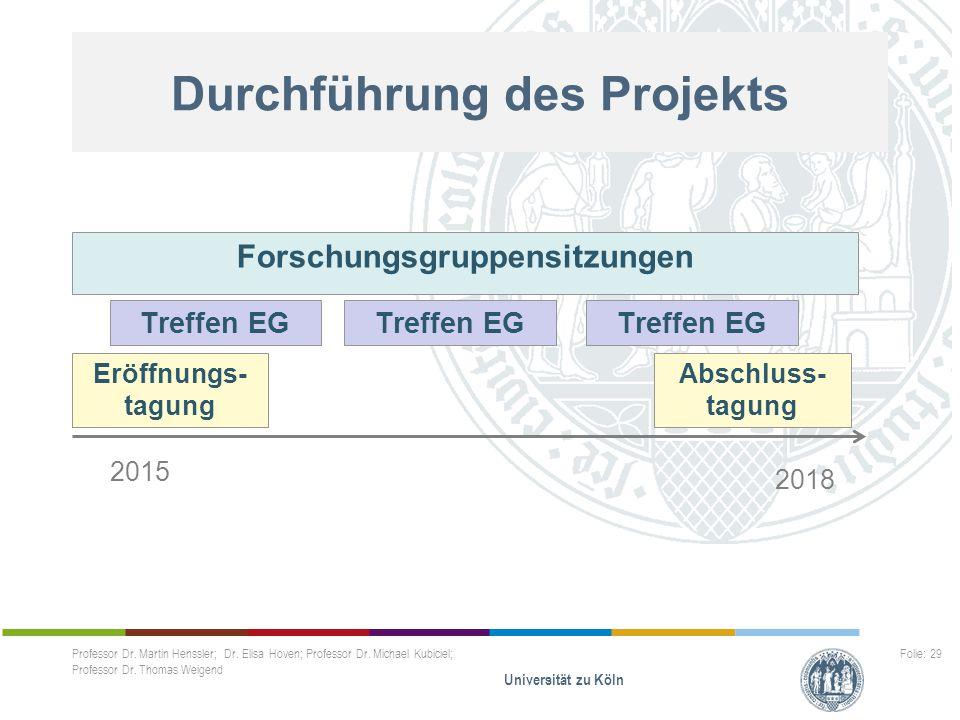 Durchführung des Projekts