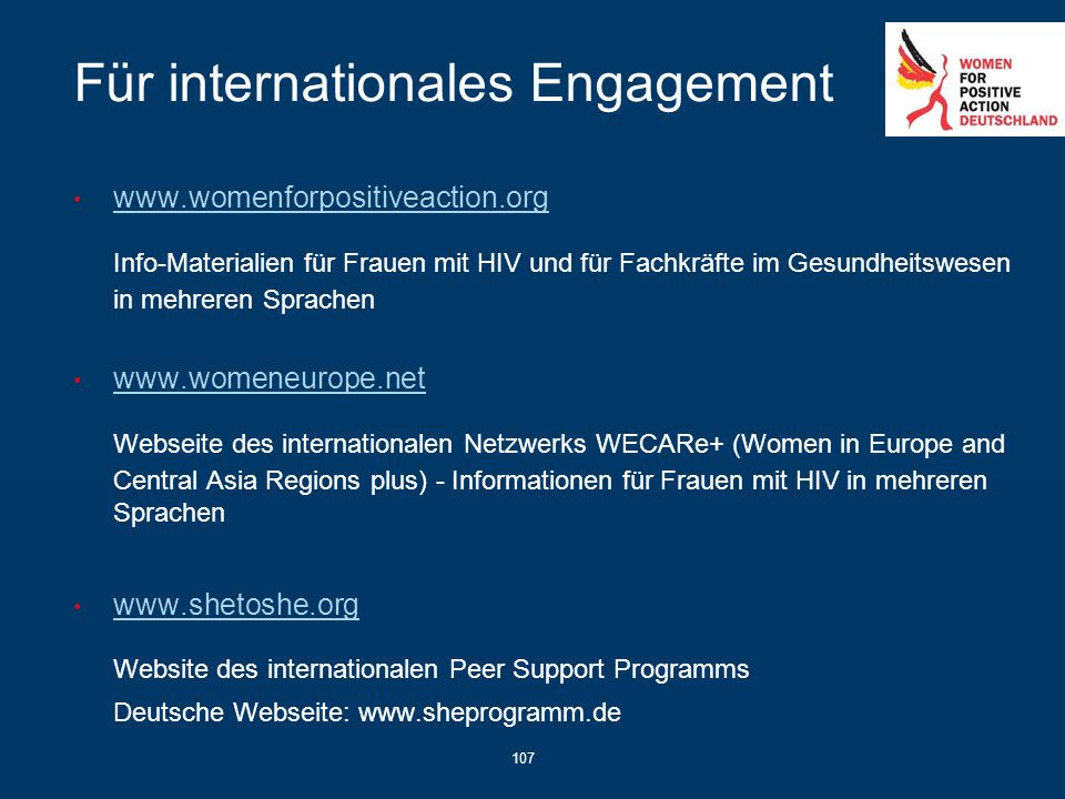Für internationales Engagement