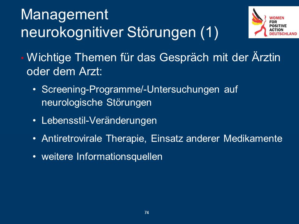 Management neurokognitiver Störungen (1)