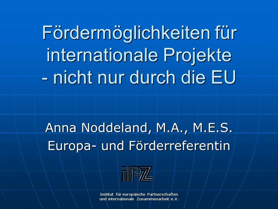 Anna Noddeland, M.A., M.E.S. Europa- und Förderreferentin