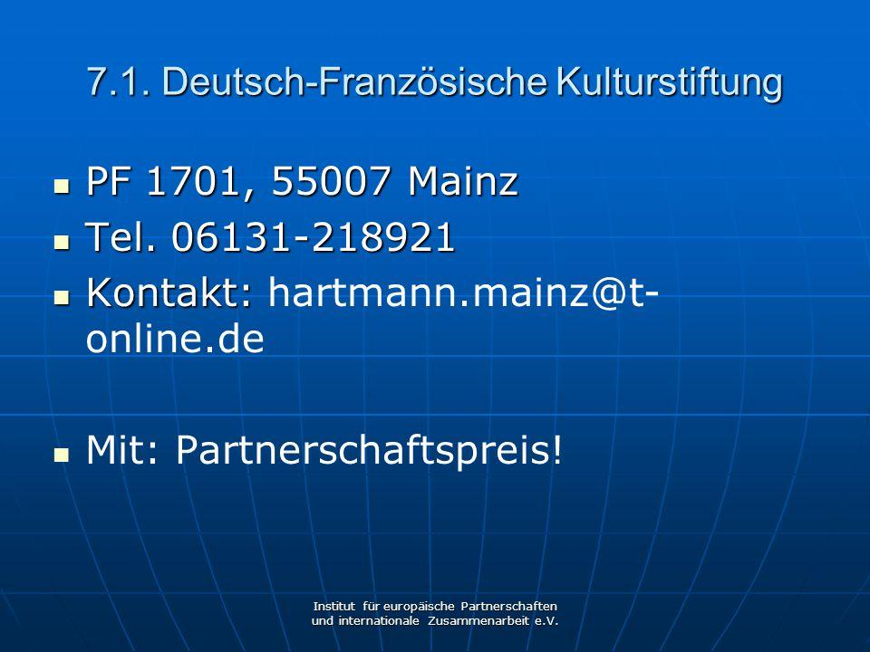 7.1. Deutsch-Französische Kulturstiftung