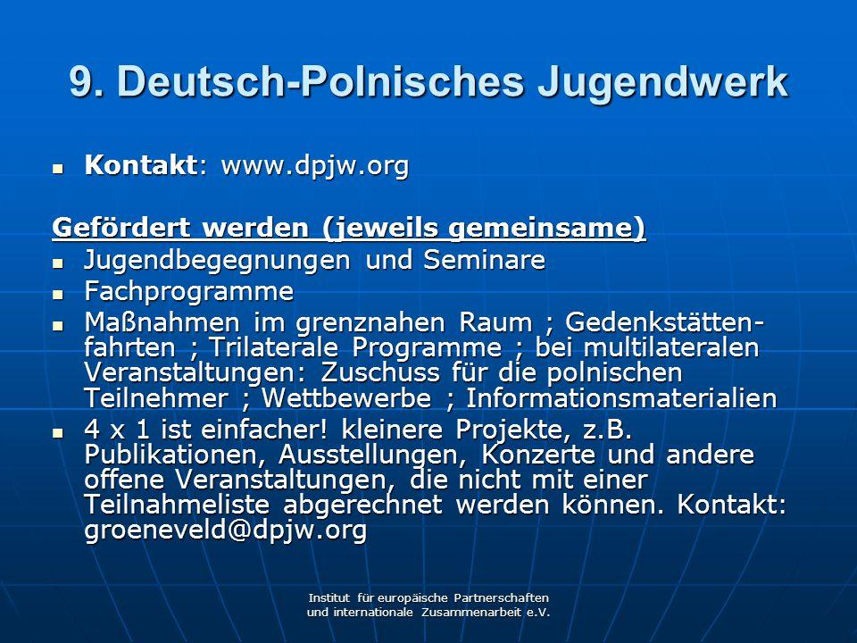 9. Deutsch-Polnisches Jugendwerk