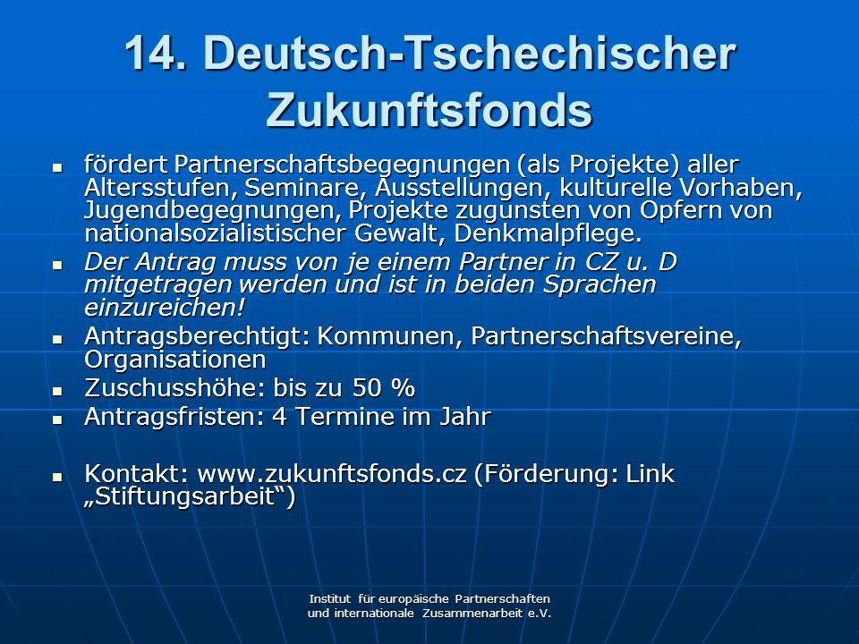 14. Deutsch-Tschechischer Zukunftsfonds