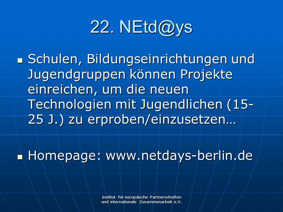 22. NEtd@ys