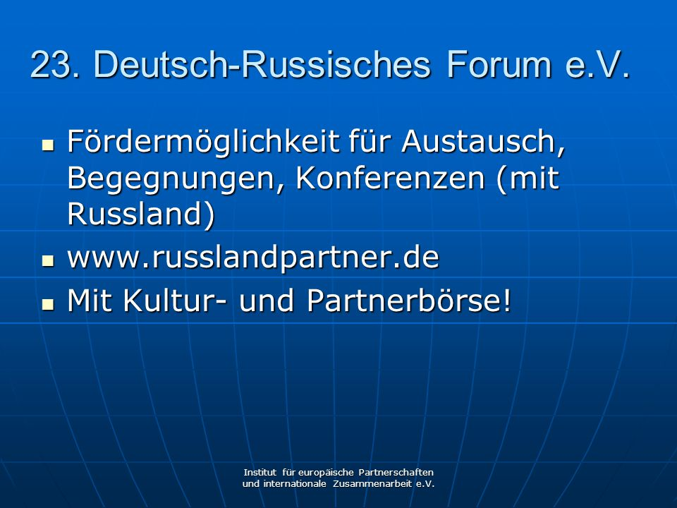 23. Deutsch-Russisches Forum e.V.