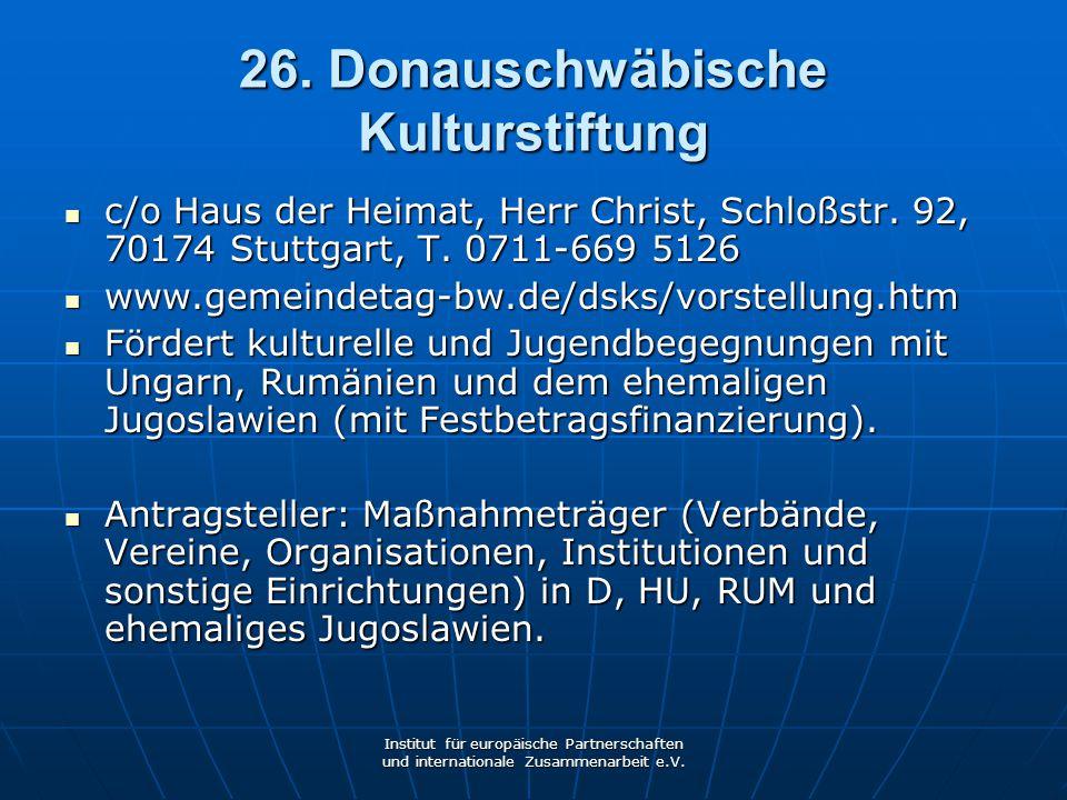26. Donauschwäbische Kulturstiftung