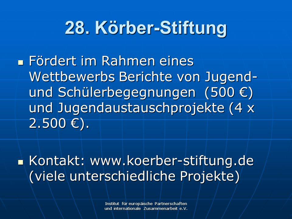 28. Körber-Stiftung