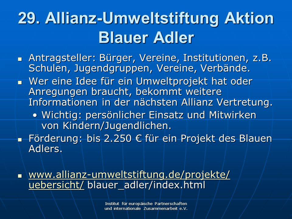 29. Allianz-Umweltstiftung Aktion Blauer Adler