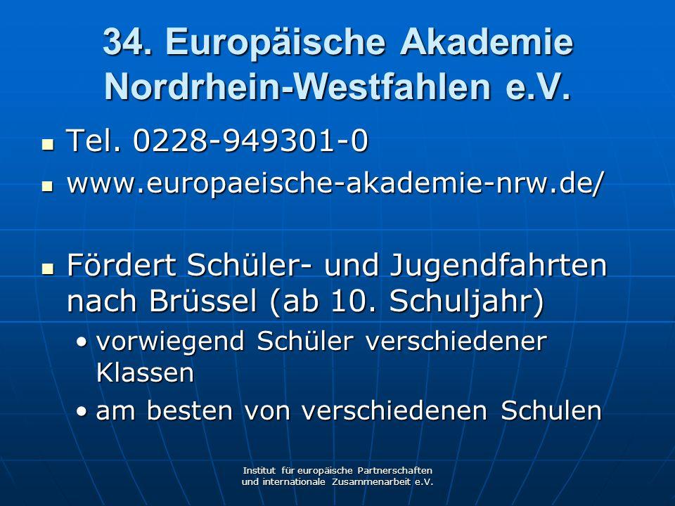 34. Europäische Akademie Nordrhein-Westfahlen e.V.