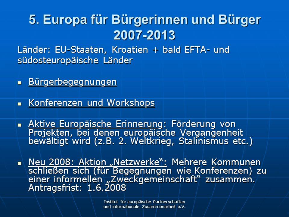 5. Europa für Bürgerinnen und Bürger 2007-2013