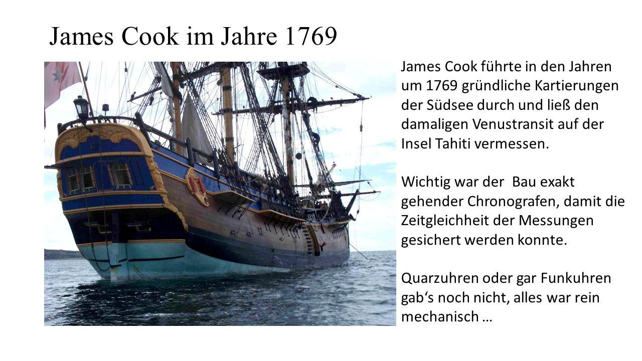 James Cook im Jahre 1769