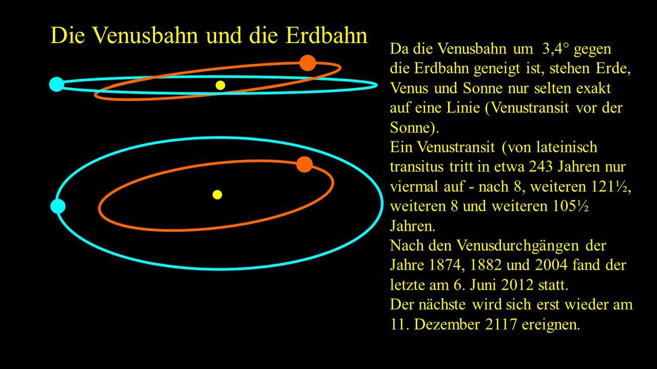 Die Venusbahn und die Erdbahn