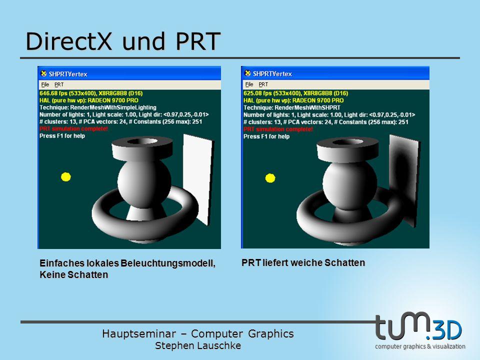 DirectX und PRT Einfaches lokales Beleuchtungsmodell, Keine Schatten