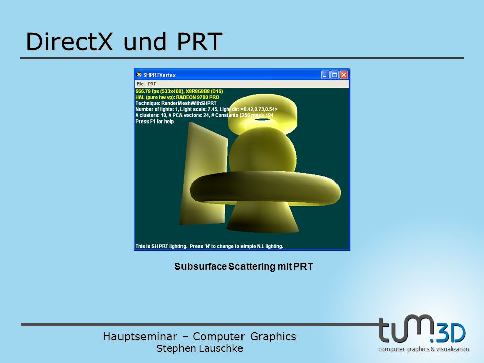 Subsurface Scattering mit PRT