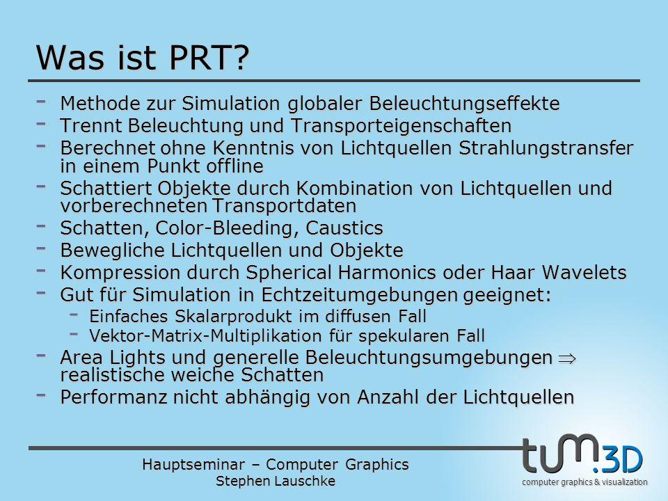 Was ist PRT Methode zur Simulation globaler Beleuchtungseffekte