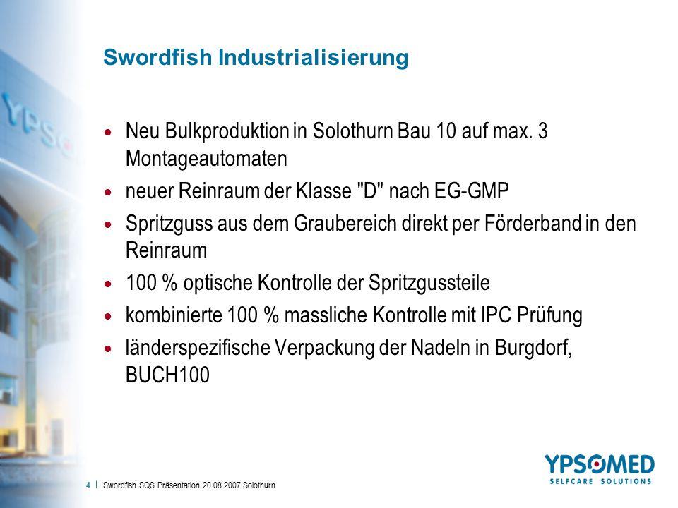 Swordfish Industrialisierung
