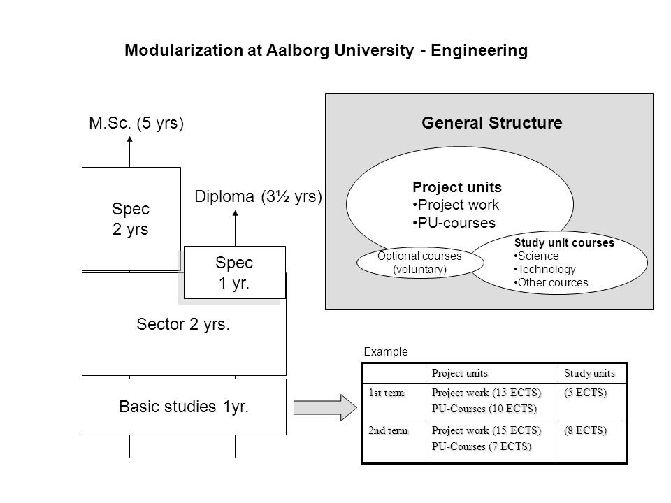 Modularization at Aalborg University - Engineering