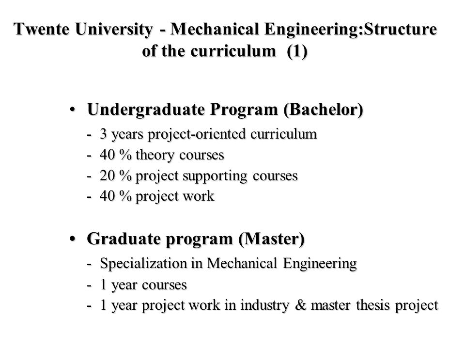 • Undergraduate Program (Bachelor)